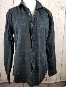 Old Navy Men's Slim Fit Dark Blue Flannel Sz Med